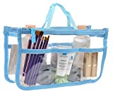 Vercord Clear Handbag Purse Tote Insert Organizer Liner Bag In Bag with Handle, Blue M