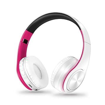 ... inalámbricos de Bluetooth running deporte diadema Auriculares estéreo de auriculares para iPhone Samsung (Rosa caliente): Amazon.es: Electrónica