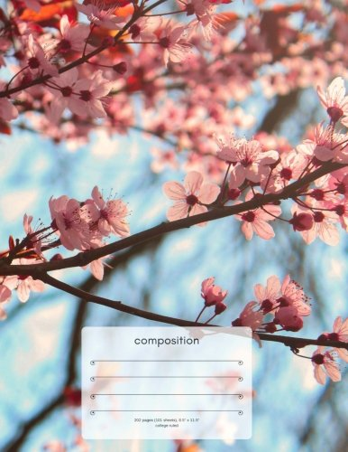 Cherry Blossoms Composition Notebook