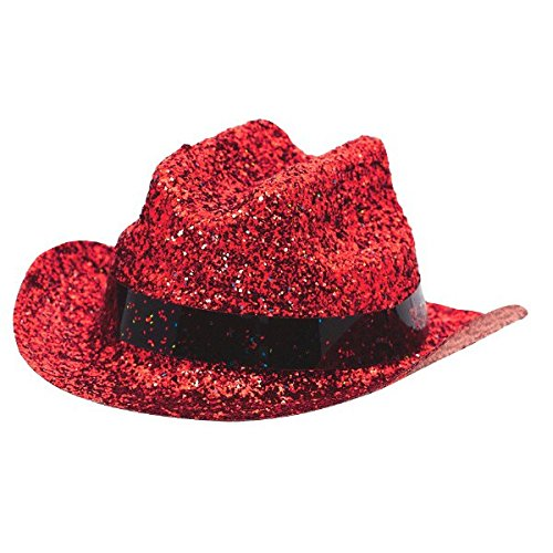 Mini Cowboy Hat Costume Party Headwear, Plastic, Red, 2