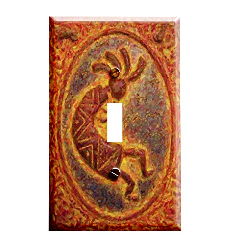 Abstract Kokopelli Switchplate - Switch Plate Cover