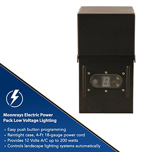 10 Piece Brinkmann Malibu Low Voltage Landscape Lighting: Moonrays Electric Power Pack Low Voltage Lighting For