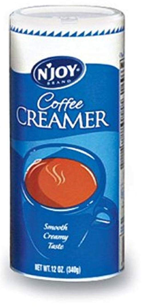 N'Joy Non Dairy Powder Creamer (12 oz.) (6 Canisters) by Miller Supply Inc (Image #1)
