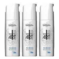 Loreal Fix Design 3 x 200 ml Haarspray Tecni.art Styling Spray ohne Treibgas Neue Serie