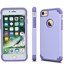 iPhone 7 Case, Asstar iPhone 7 (4.7 inch) Slim Hard Hybrid Bumper Case Shock Absorbing Hard PC Shell + TPU Rubber Strength Resistant Protective Case for Apple iPhone 7 (Purple)