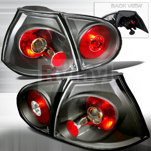 Spec-D Tuning LT-GLF05JM-TM Volkswagon Golf Gl Gls Gti Hatchback Black Tail Lights (Gti Golf Volkswagon Car)