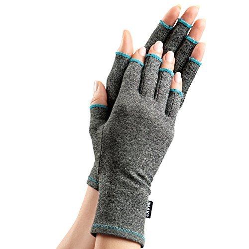 IMAK Compression Gloves,Blue,M(3.25