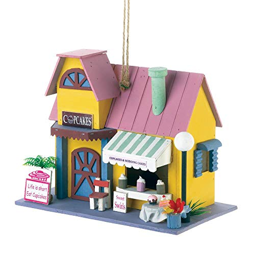 Tolbsplace Birdhouses Cute Bakery Decor Unique Decorative Birdhouses Gifts Gardeners Lawn ()