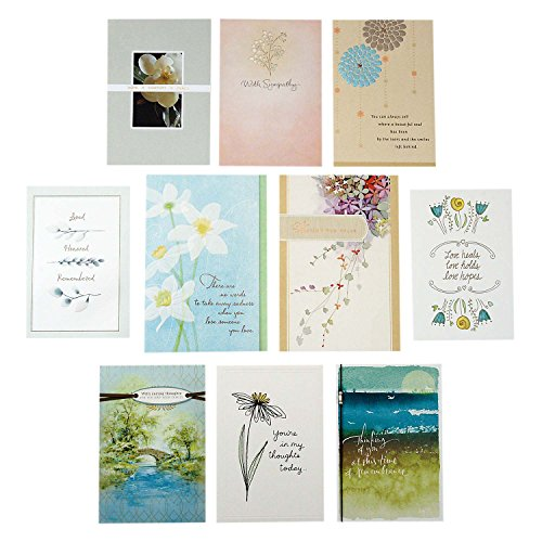 - Hallmark Sympathy Greeting Card Assortment (10 Cards, 10 Envelopes)