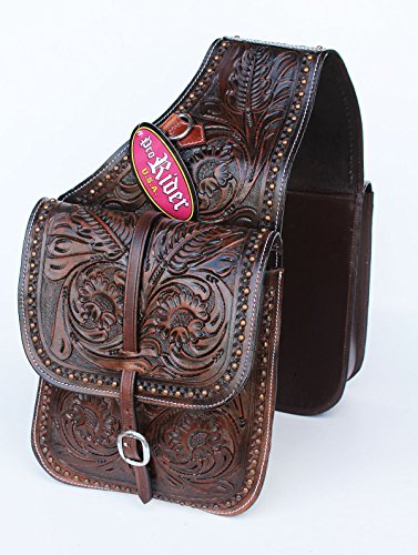 (PRORIDER Horse Western Saddle Bag OR Motorcycle Saddle Bags Hand Tooled Leather 10219)