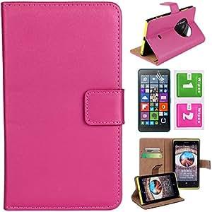 CaseMa-EU Funda de Carcasa PU Cuero Billetera Cover Case Para Nokia Lumia 1020 (Rose) + Gratis Protector de Pantalla