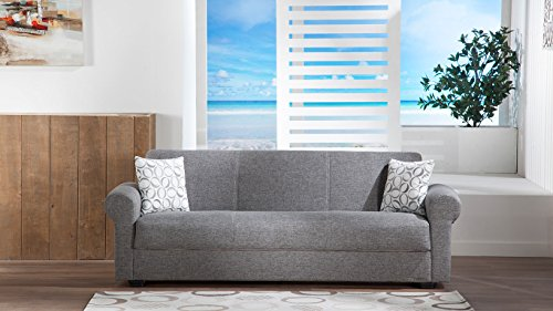 Elita S Diego Grey Convertible Sofa Bed by Sunset