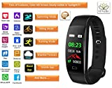 Mulk HD COLOR FITNESS Tracker F64 - Weather Forecast, Swimming, GPS, Biking, Running, Heart Rate, Blood Pressure, Blood Oxygen Sleep Monitor, Step Counter, Calorie burn waterproof for all Ages