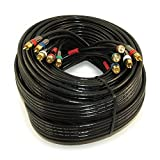 MyCableMart 35ft RCA Premium in-Wall 5-Wire Component Video/Audio Cables Gold Plated