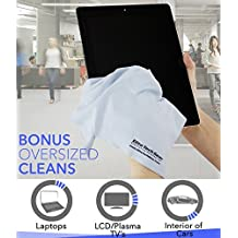"""EliteTechGear The Most Amazing Microfiber Cleaning Cloths (30 Pack). Perfect For Cleaning All Electronic Device Screens, Eyeglasses, Tablets & Delicate Surfaces (29 Large 6""""x7"""" & 1 Oversized 12""""x12"""")"""