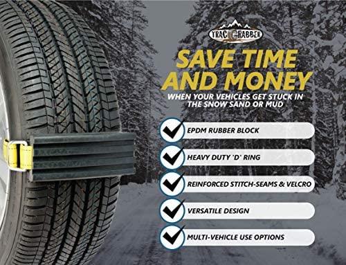 JXXU Schnee-Schlamm und Sand Reifen Streckverband 2er-Set for Trucks und gro/ßen SUVs Schnee-Traction Mat Alternative