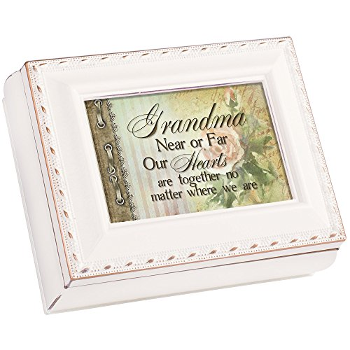 Cottage Garden Grandma Ivory Petite Square Jewelry and Keepsake - Best Keepsake Grandma