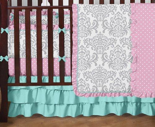 Baby blue crib bumper