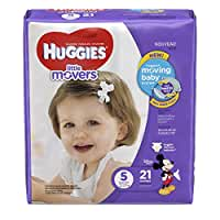 HUGGIES Little Movers Diapers, Size 5, 21 Count
