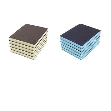 B Blesiya 10x Schleifschwamm Zum Abschleifen Von Farbe Fuller Lack