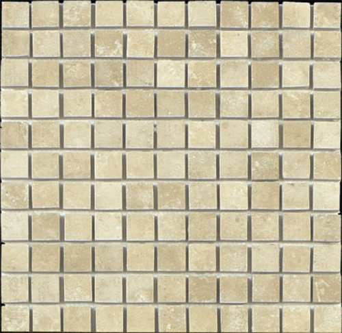 Epoch Tile DU1X1 1x1 Durango Tumbled Travertine