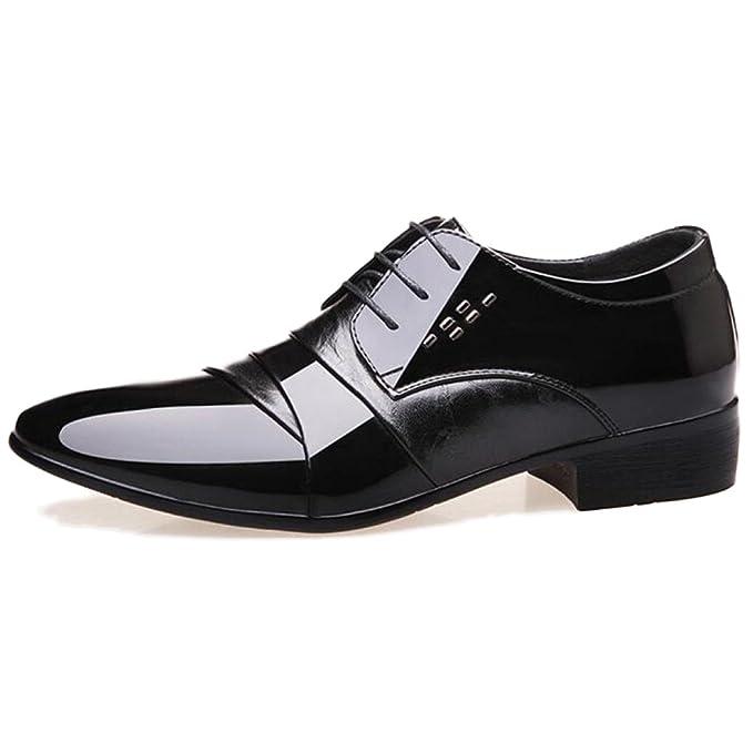 affb8d3b3 Zapatos De Cuero Hombre Derby Formal Business Trabajo Antideslizante ...