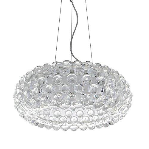 NASN Modern Suspension Foscarini Caboche Acrylic Pendant Lamp 25.6'' D65cm Rustic Shinning Dining Room Living Room Light Fixtures BP-8059-600 (Caboche Pendant)