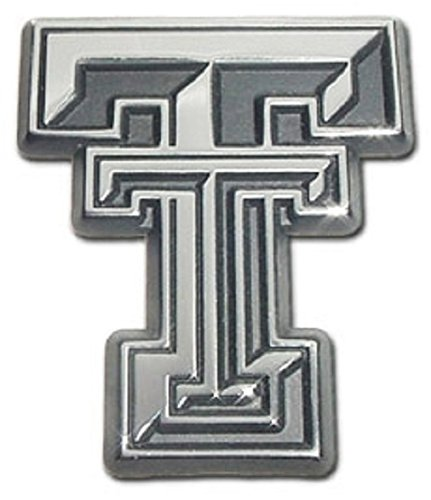 Texas Tech University Red Raiders Premium Chrome Plated Metal NCAA College Car Truck Motorcycle Emblem
