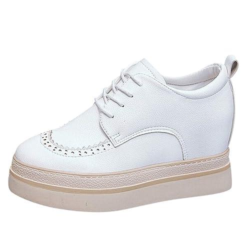 Zapatillas de Vestir Plateadoforma Cuña para Mujer Invierno Primavera PAOLIAN Calzado Loafer Cordones Casual Tacón Grueso Elegantes Fiesta Zapatos Aire ...