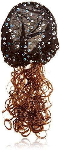 eDealMax Enfants boucls Sequin Bandeau/cheveux / Perruque Chapeau, Brun Noir, 0,1 Pound