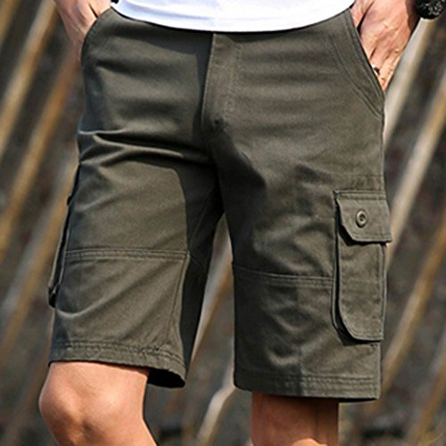 farjing-mens-shorts-clearancemens-fashion-casual-pocket-beach-shorts-work-casual-short-trouser-pantssize42army-green