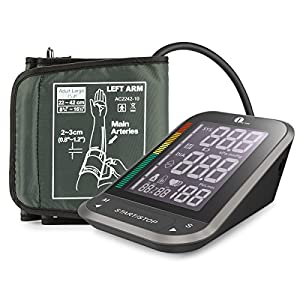 """1byone Upper Arm Blood Pressure Monitor with Easy-to-Read Backlit LCD, Cuff """"One Size Fits All"""" including a Nylon Storage Case by 1byone"""