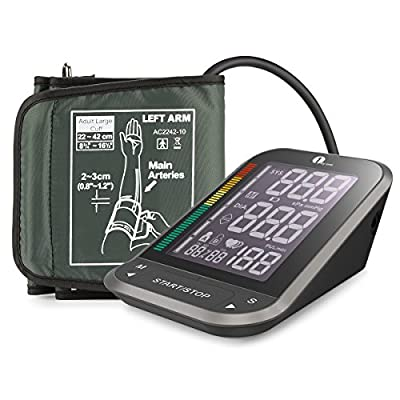 "1byone Upper Arm Blood Pressure Monitor with Easy-to-Read Backlit LCD, Cuff ""One Size Fits All"" including a Nylon Storage Case"
