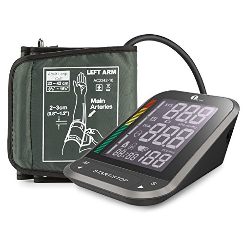 1byone-Upper-Arm-Blood-Pressure-Monitor-with-Easy-to-Read-Backlit-LCD-Cuff-One-Size-Fits-All-including-a-Nylon-Storage-Case