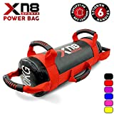 Xn8 Sports Power Bag Sand Bag Weight Lifting Body Fitness Gym Training Handles Crossfit Workout Sandbag (Red, 10kg)