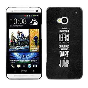 Stuss Case / Funda Carcasa protectora - Dare Jump Inspiring Motivational Black - HTC One M7