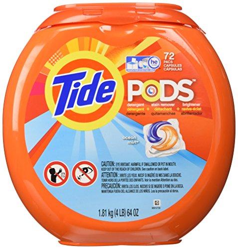 Tide Pods Ocean Mist Detergent, 72 Count