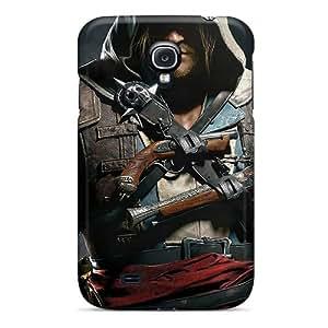 Jenipper Perfect Tpu Case For Galaxy S4/ Anti-scratch Protector Case (assassins Creed Iv Black Flag)