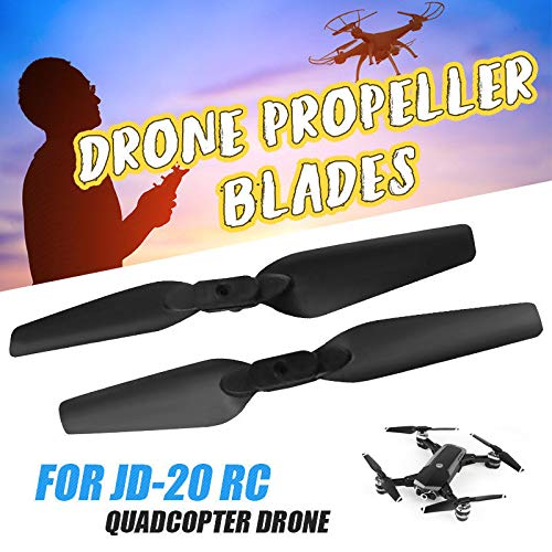 Hisoul for JD-20 JD20S RC Quadcopter Drone Replace Propellers Blades Spare Parts (2 pcs) (Black)