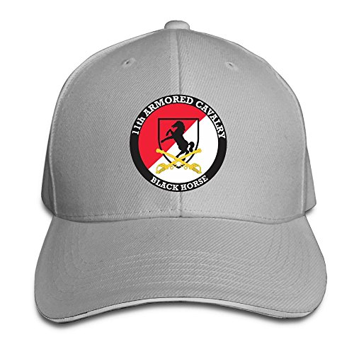 PAWJN Classic US Army 11th Armored Cavalry Baseball Caps Adjustable Sandwich Baseball Hat