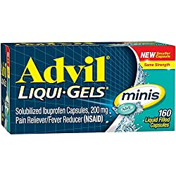 Advil Liqui-gels Minis (160 Count) Pain Relieverfever Reducer Liquid Filled Capsule, 200mg Ibuprofen, Easy To Swallow, Temporary Pain Relief