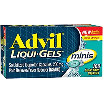 Advil Liqui-gels Minis (160 Count) Pain Relieverfever Reducer Liquid Filled Capsule, 200mg Ibuprofen, Easy To Swallow, Temporary Pain Relief 0