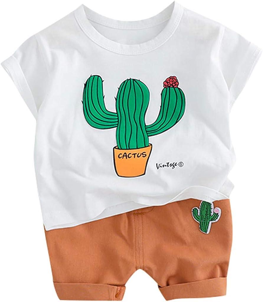 Berimaterry Ropa Bebe Recien Nacido 2019 Caricatura Camiseta Versión Coreana Camisa Blusa y Pantalones Cortos Top Conjunto Verano Conjuntos Bebé NiñO ...