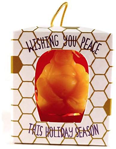 Way Out Wax Holiday Buddha Beeswax Ornament