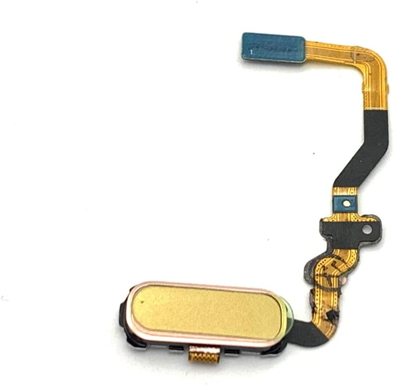 Walking Slow Replacement Gold Home Button Key Flex Cable Compatible with Samsung Galaxy S7 Edge G935 (for All US Carriers)