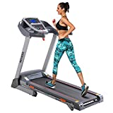 ANCHEER Treadmill, APP Control Electric Folding Treadmills (Grey)