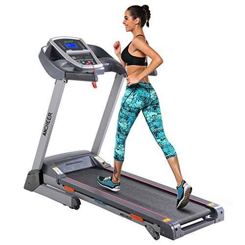 ANCHEER Treadmill, APP Control Electric Folding Treadmills (Grey)