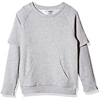 Kid Nation Kids' Double-Sleeve French Terry Sweatshirt for Boys or Girls