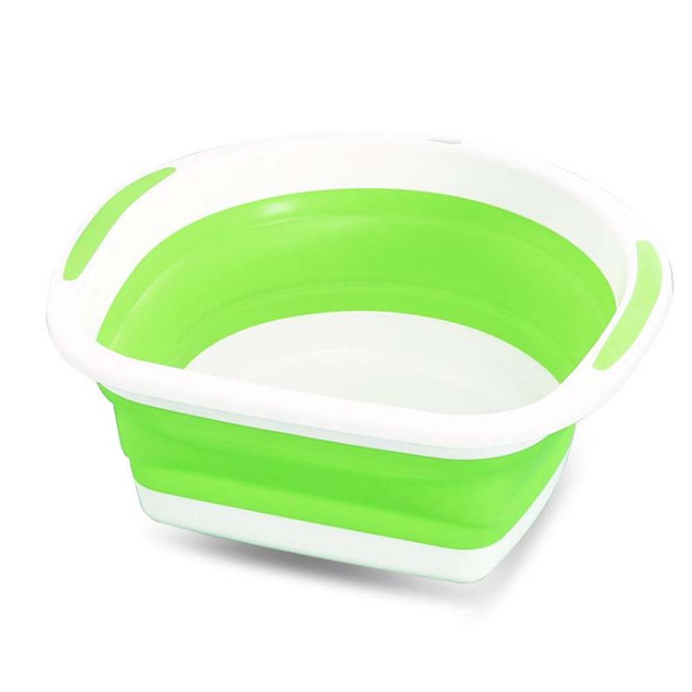 juiokk Collapsible浴槽、折りたたみ式ディッシュバスタブポータブル省スペース洗濯盆地プラスチックWashtub グリーン JK-SHYP181 B07FCPBM1X グリーン
