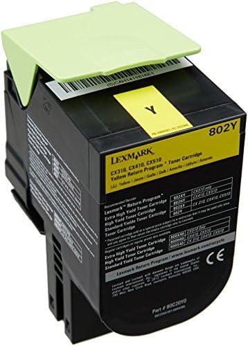 Lexmark 80c20y0 Original Toner 1er Pack Bürobedarf Schreibwaren